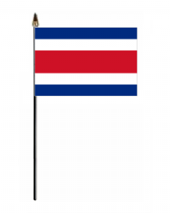 Costa Rica Country Hand Flag - Small.